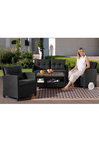 KONIFERA Gartenmöbelset »St. Tropez«, 11 - tlg., 2er Sofa, 2 Sessel, Tisch 90x55 cm, Polyrattan kaufen