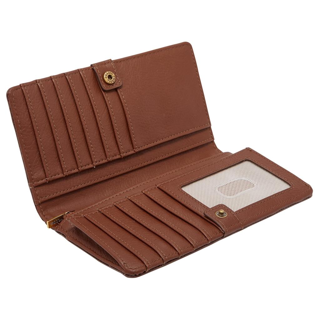 Fossil Geldbörse »Liza«, aus Leder mit goldfarbenen Details