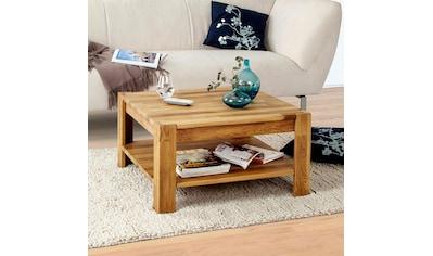 Home affaire Couchtisch »Jurmo«, in 2 verschiedenen Größen, aus massivem Eichenholz kaufen