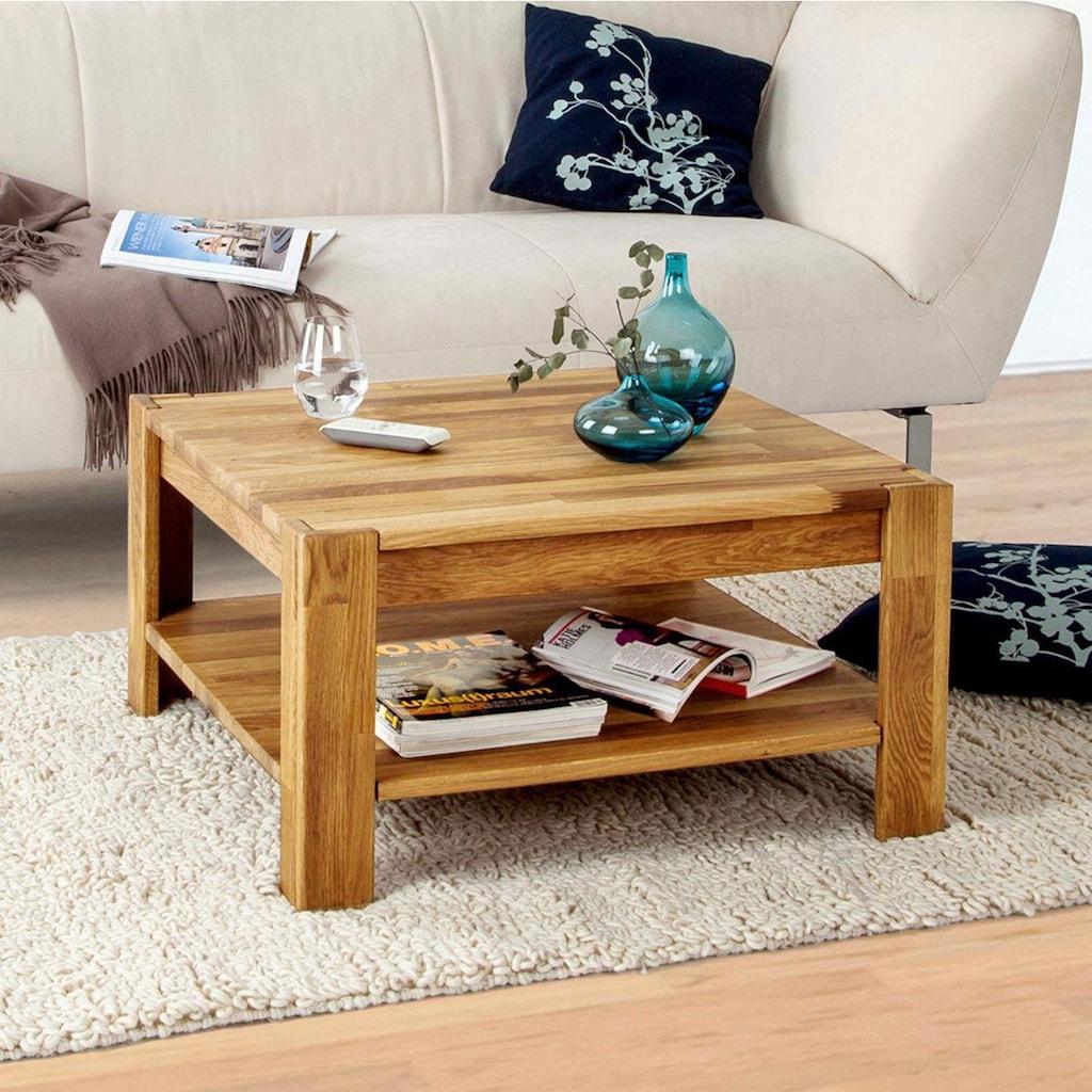 Home affaire Couchtisch »Jurmo«, in 2 verschiedenen Größen, aus massivem Eichenholz