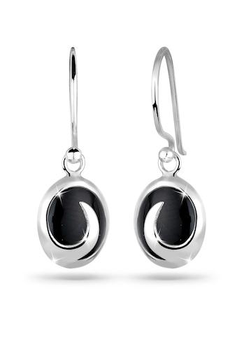 Elli Paar Ohrhänger »Onyx Wellen Edelstein 925 Silber« kaufen