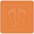 Kleine Wolke Duscheinlage »Foot«, BxH: 55 x 55 cm
