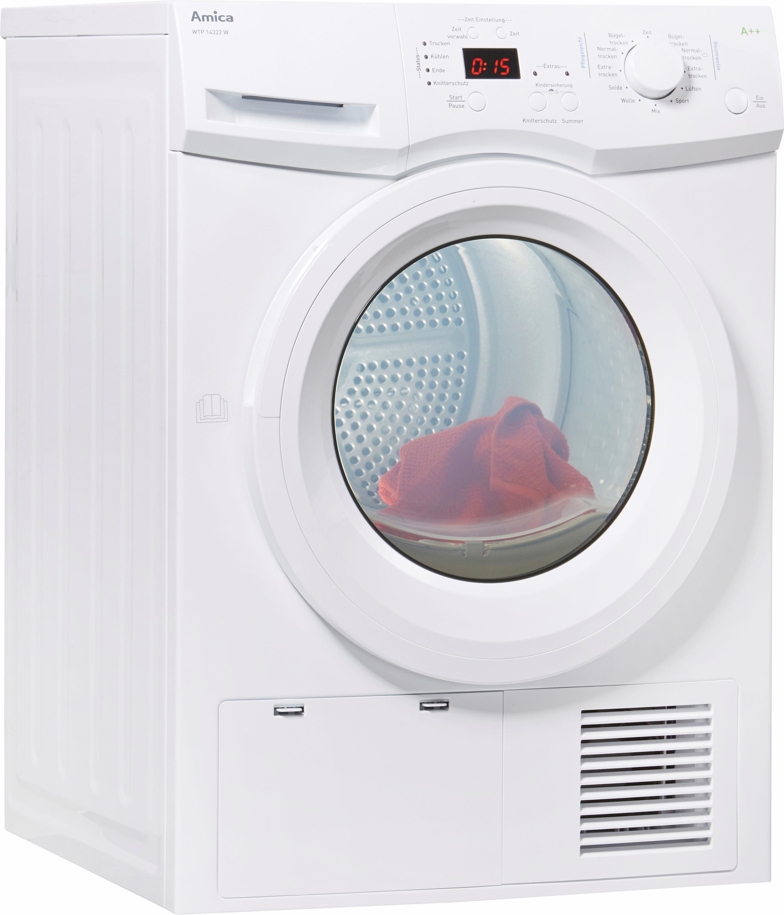 Amica Wärmepumpentrockner WTP 14322 W 8 kg | Bad > Waschmaschinen und Trockner | Weiß | Amica