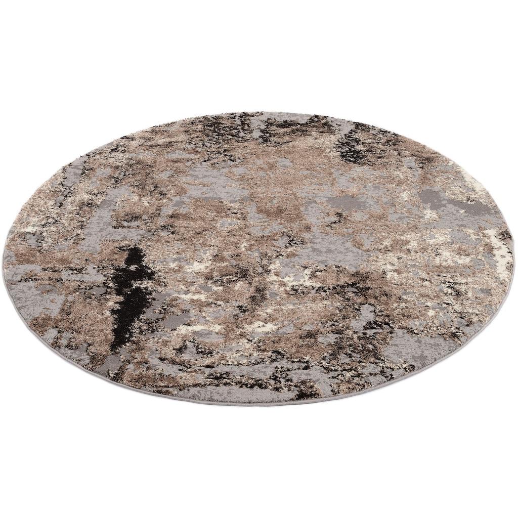 OCI DIE TEPPICHMARKE Teppich »JUWEL LIRAY«, rund, 20 mm Höhe, Wohnzimmer