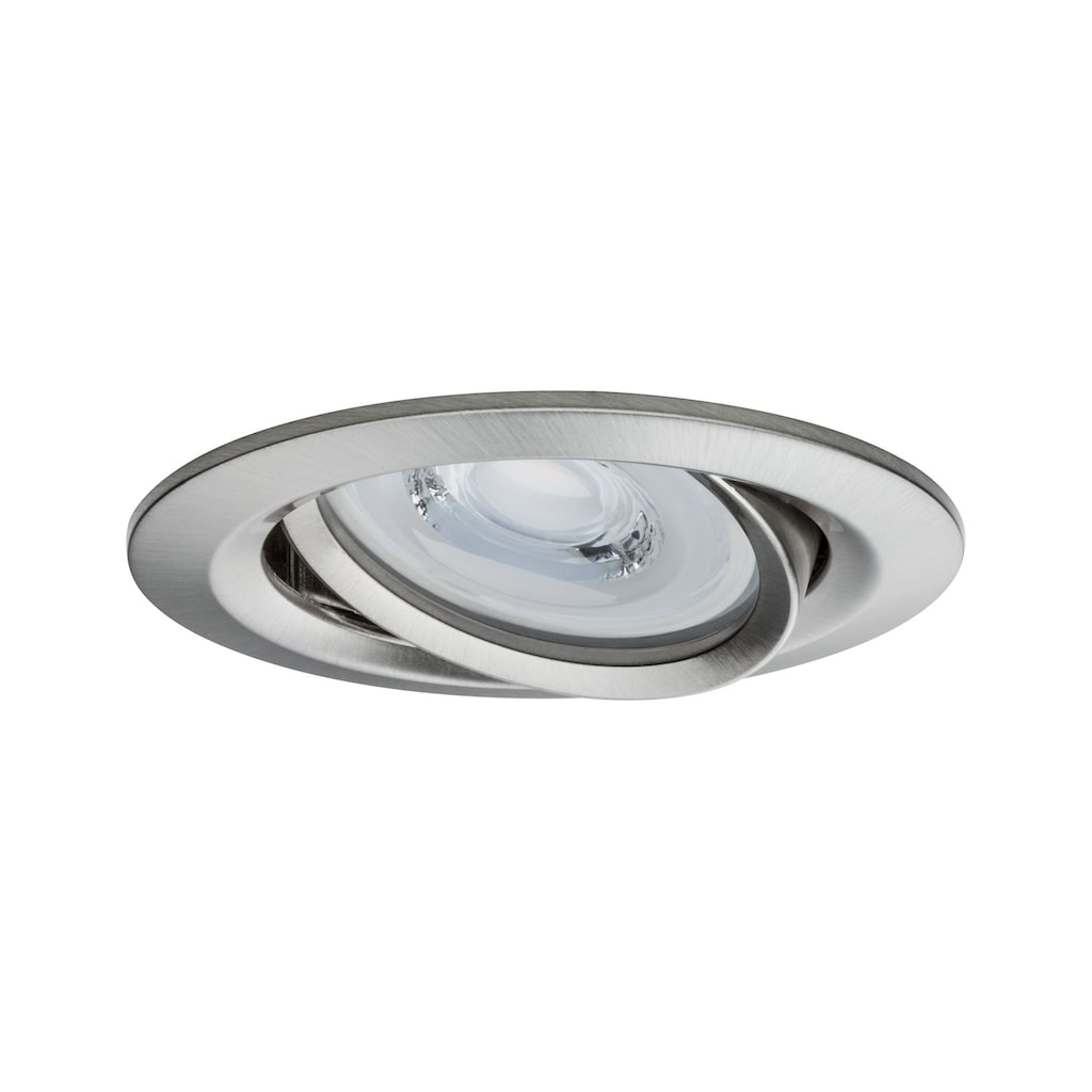 Paulmann LED Einbaustrahler »dimmbar IP23 Eisen 6,8W Reflector Coin schwenkbar«, 3 St., Warmweiß