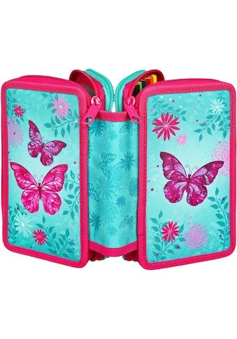 "Scooli Schreibgeräteetui ""Triple Decker, Butterfly"" kaufen"