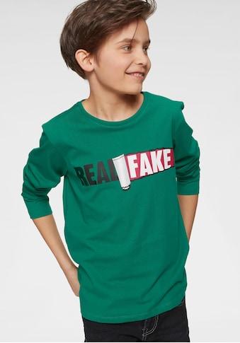 Arizona Langarmshirt »Real fake« kaufen