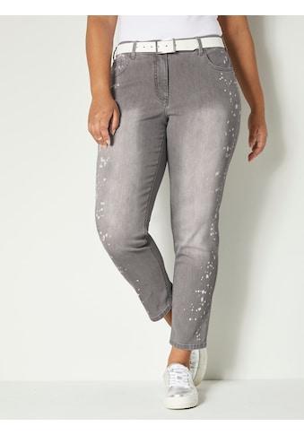 Angel of Style by HAPPYsize Jeans mit Druck in Farbspritzeroptik kaufen