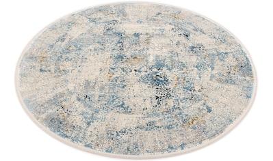OCI DIE TEPPICHMARKE Teppich »BESTSELLER CAVA«, rund, 8 mm Höhe, Glanz Viskose, mit... kaufen