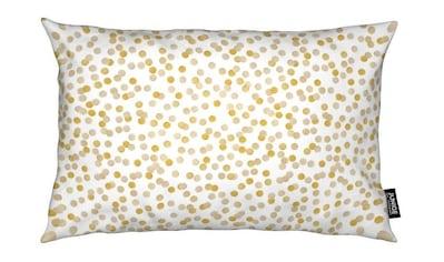 Juniqe Dekokissen »Gold Confetti«, Weiches, allergikerfreundliches Material kaufen