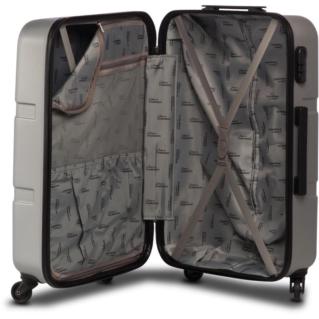 fabrizio® Hartschalen-Trolley »Formation L, 77 cm, Silberfarben«, 4 Rollen