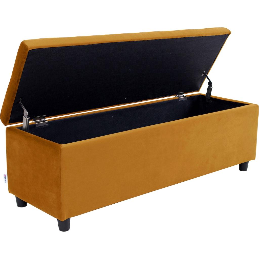 COUCH♥ Bettbank »Abgesteppt«, Mit Stauraum, auch als Garderobenbank geeignet, Polsterbank