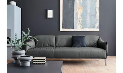 W.SCHILLIG 3-Sitzer »sally«, mit Metall-Winkelfüßen in Chrom glänzend, Breite 224 cm kaufen