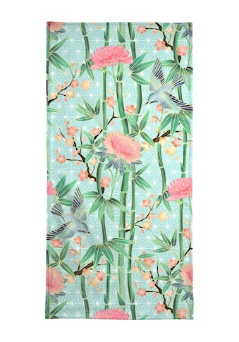 "Strandtuch ""Bamboo Birds and Blossom Mint"", Juniqe kaufen"