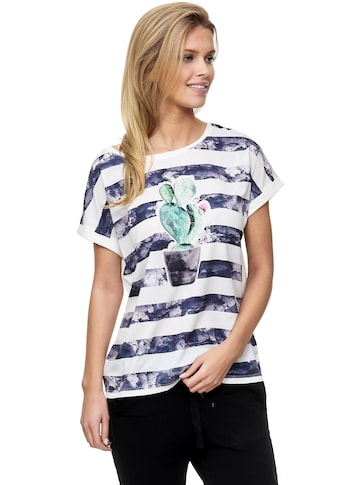 Decay T-Shirt, mit Kaktus-Aufdruck und Pailletten kaufen
