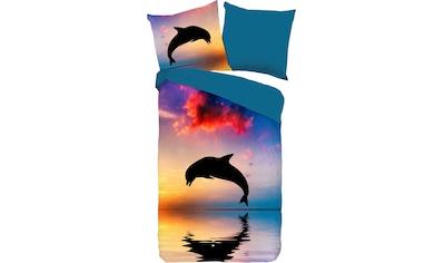 good morning Kinderbettwäsche »Dolphin«, mit Delphin kaufen