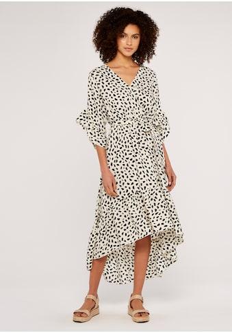 Apricot Druckkleid »Pebble Rock Ruffle Wrap Dress«, mit Animalprint kaufen