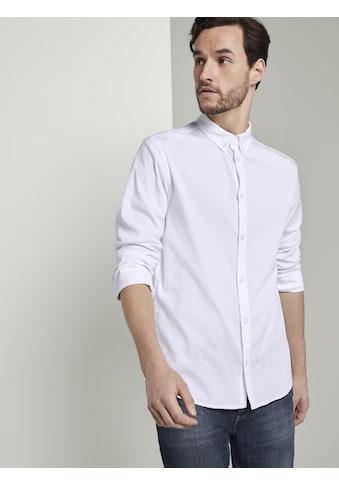 TOM TAILOR Langarmhemd »Basic Hemd mit Button-Down Kragen« kaufen