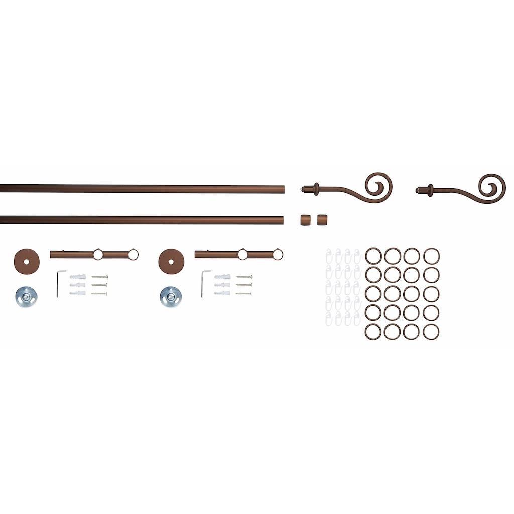 GARESA Gardinenstange »Esperanza Spirale«, 2 läufig-läufig, Wunschmaßlänge