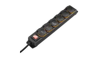 Hama Outdoor Steckdosenleiste mit Schalter, 6 - fach, 2m »Spritzwassergeschützt« kaufen