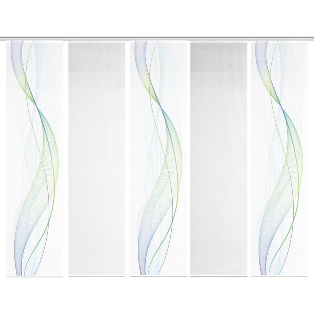 Vision S Schiebegardine »5ER SET HEIGHTS«, HxB: 260x60, Schiebevorhang 5er Set Digitaldruck