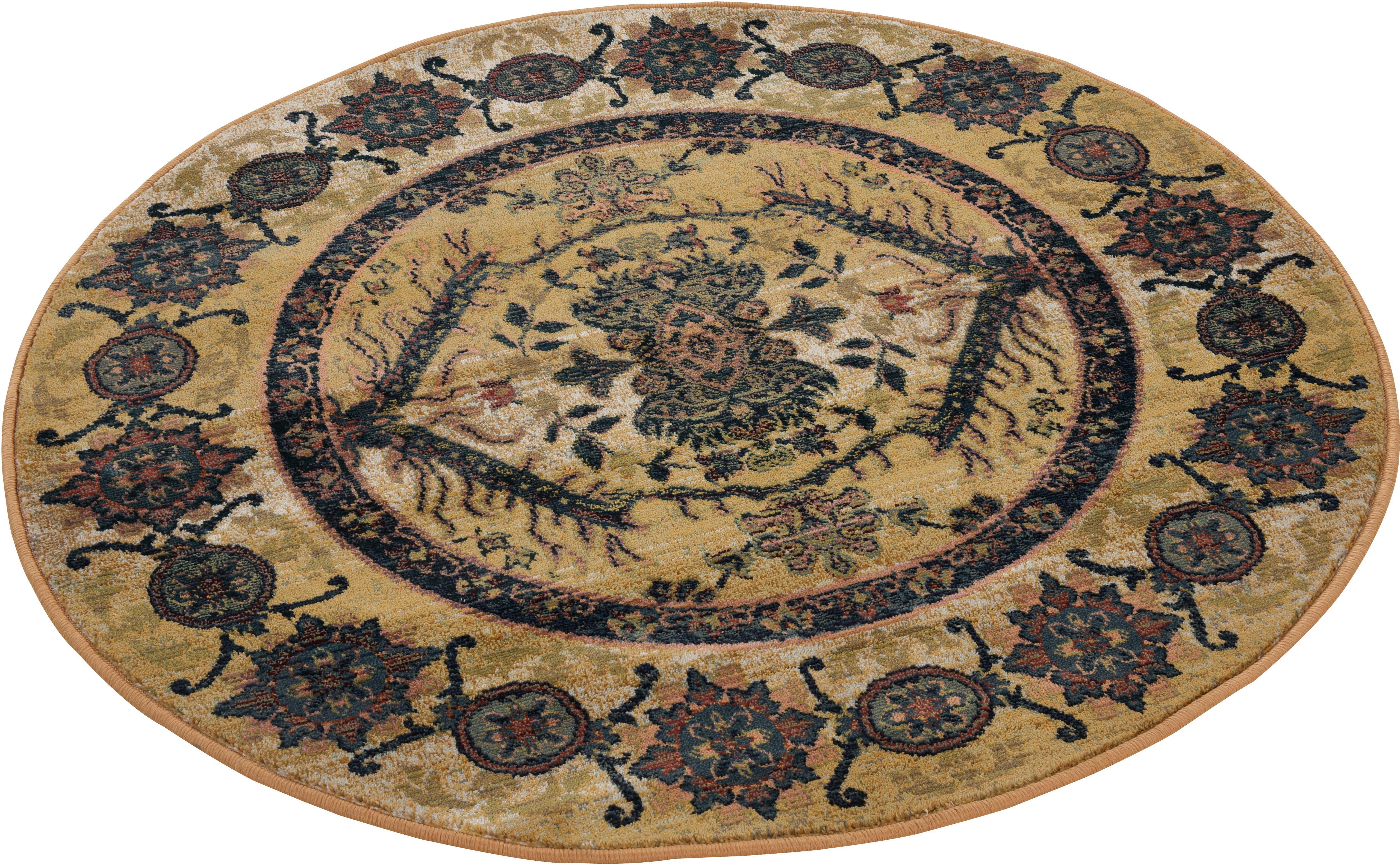 Teppich Gabiro 3070 THEKO rund Höhe 10 mm maschinell gewebt
