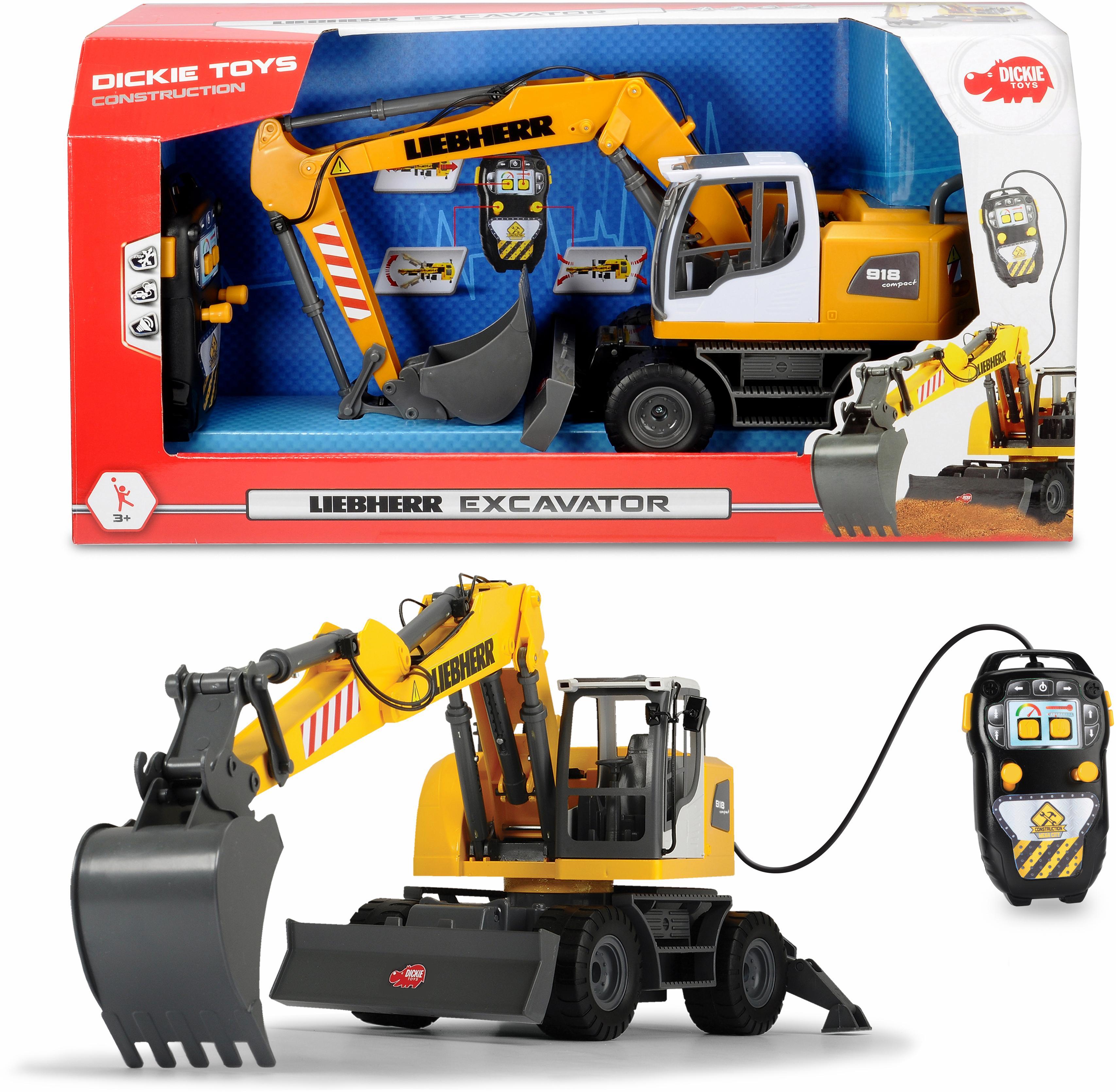dickie toys spielzeug bagger liebherr excavator auf raten. Black Bedroom Furniture Sets. Home Design Ideas