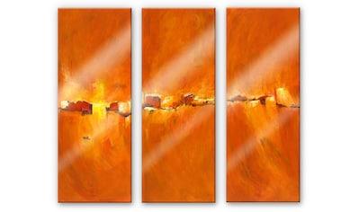 Wall-Art Mehrteilige Bilder »Herbst Sonne (3-teilig)«, (Set, 3 St.) kaufen