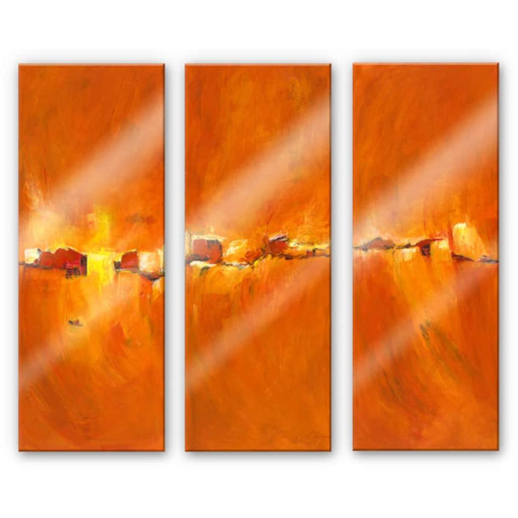 Wall-Art Mehrteilige Bilder »Herbst Sonne (3-teilig)«, (Set, 3 St.)
