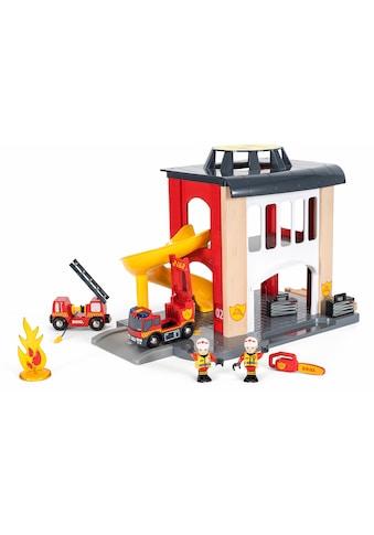 """BRIO® Spiel - Feuerwehrwache """"BRIO® WORLD Große Feuerwehrstation mit Einsatzfahrzeug"""" kaufen"""