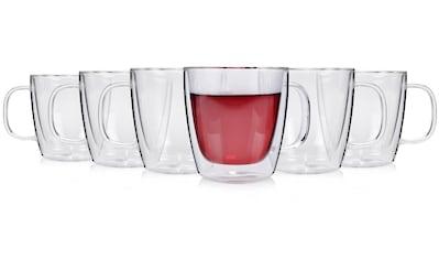 SÄNGER Thermobecher »Tee«, (6 tlg., 6 teiliges Teegläser Set), 6x Thermoglas - ØxH:... kaufen