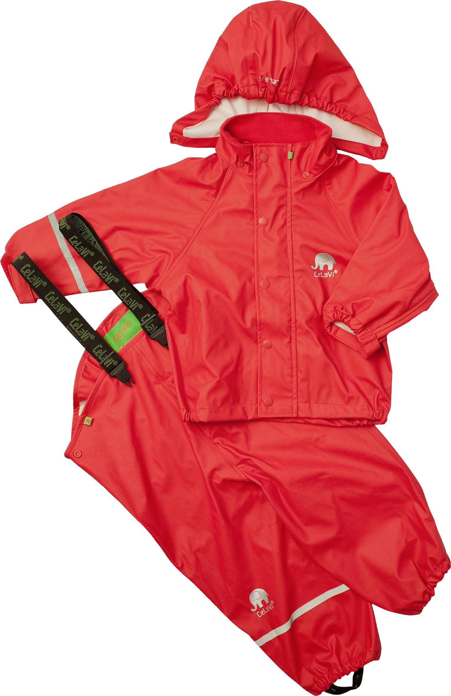 Regenanzug, für Kinder rot Herren Regenanzug Regenanzüge Regenbekleidung Jungenkleidung