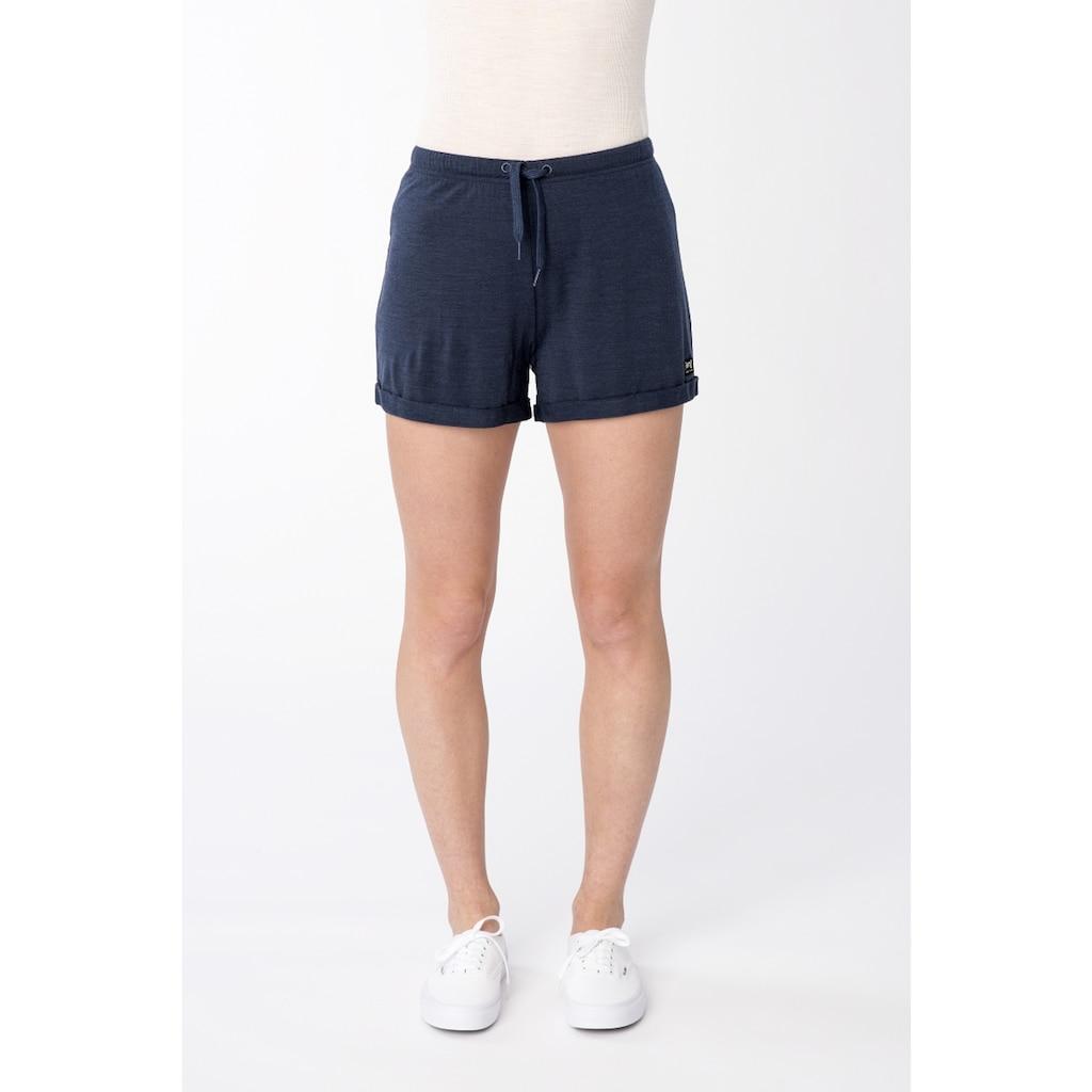 SUPER.NATURAL Shorts »W WIDE SHORTS«, pflegeleichter Merino-Materialmix