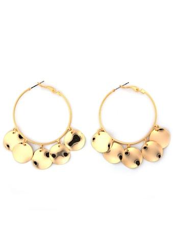 J.Jayz Paar Creolen »glänzendes Design, mit Plättchen« kaufen