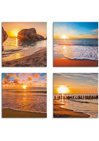 Artland Leinwandbild »Sonnenuntergänge am Strand & Meer«, Sonnenaufgang & -untergang,... kaufen