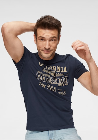 TOM TAILOR Polo Team T-Shirt, mit markantem Print kaufen
