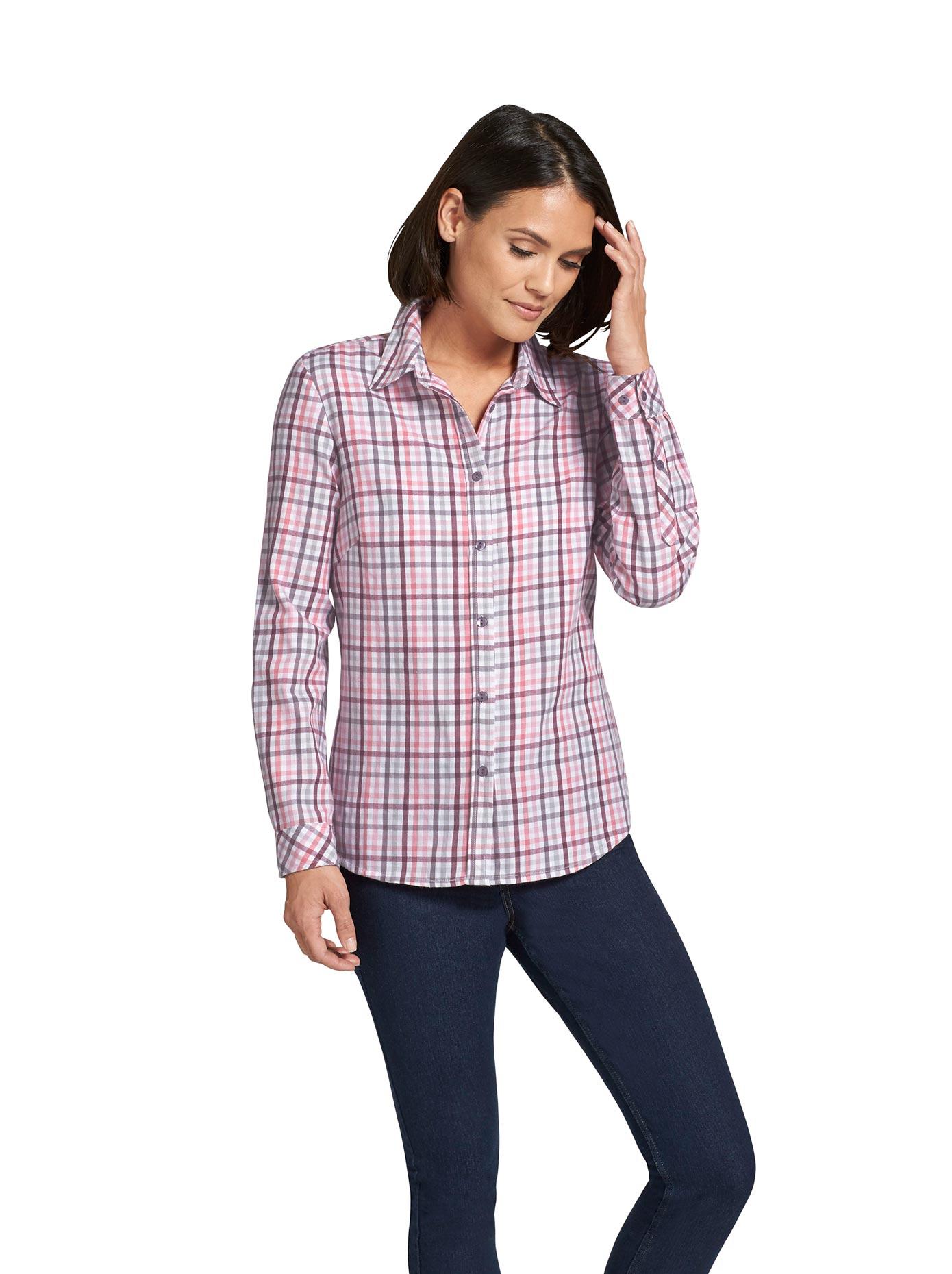 Classic Basics Bluse in wärmender Flanell-Qualität