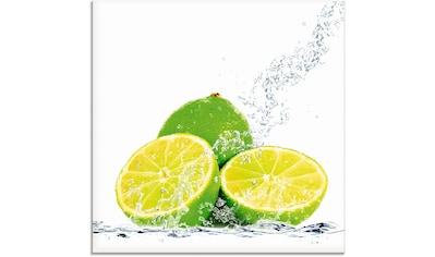 Artland Glasbild »Limette mit Spritzwasser« kaufen