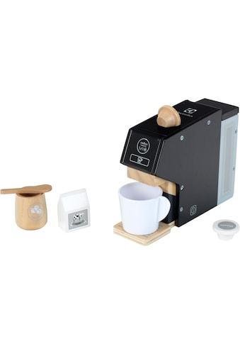 Klein Kinder-Kaffeemaschine »Electrolux, Holz«, mit Kaffeekapseln und Zubehör aus Holz kaufen