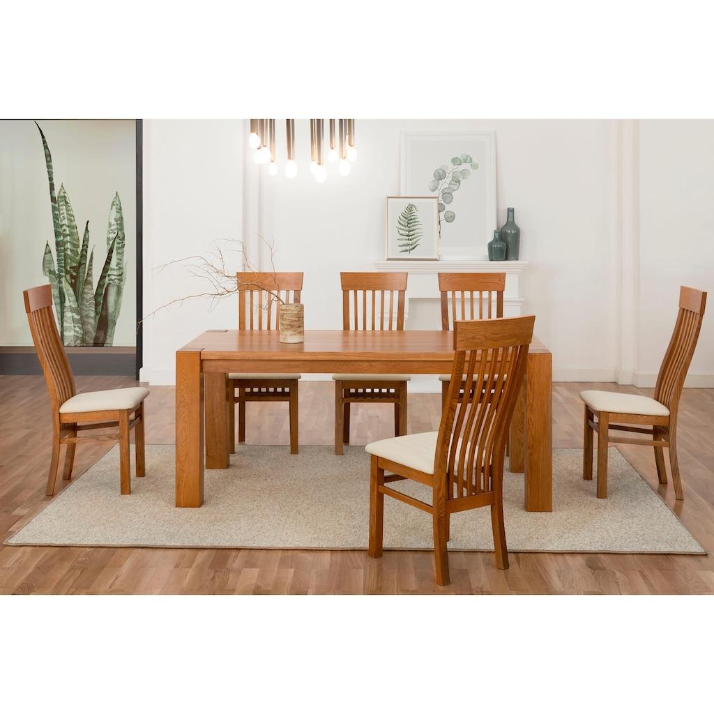 Premium collection by Home affaire Essgruppe »Amore«, (Set, 5 tlg.), bestehend aus dem Tisch »Dominik« und den Stühlen