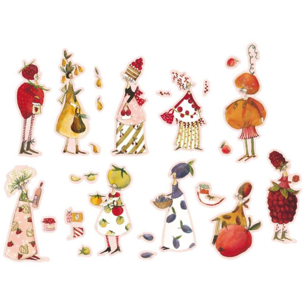Wall-Art Wandtattoo »Obst Fee Marmeladen Früchte«