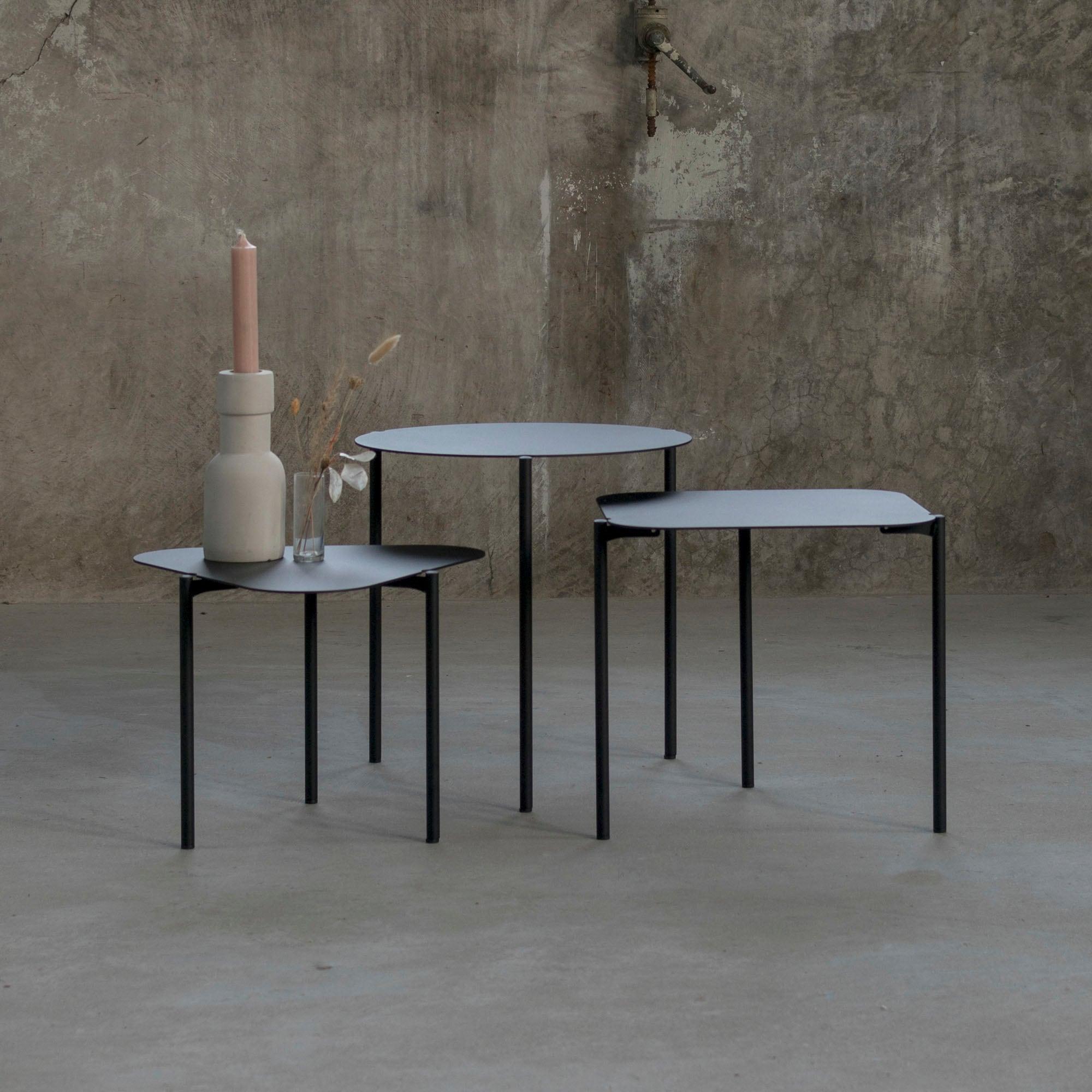 Spinder Design Beistelltisch Doremi, 3er-Set schwarz Beistelltische Tische
