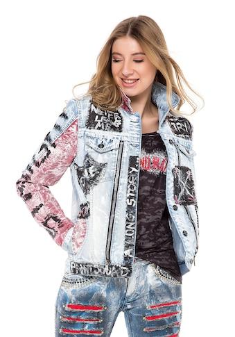 Cipo & Baxx Jeansjacke, mit handbemalten Details kaufen