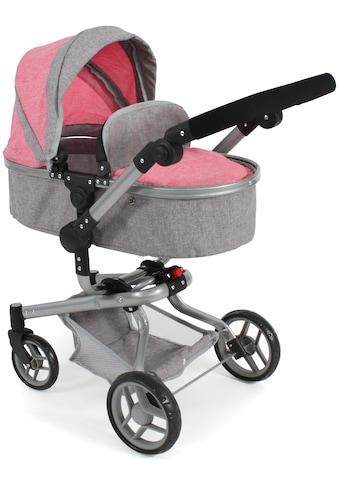 CHIC2000 Kombi-Puppenwagen »Yolo, Melange Pink«, mit schwenkbaren Vorderrädern kaufen