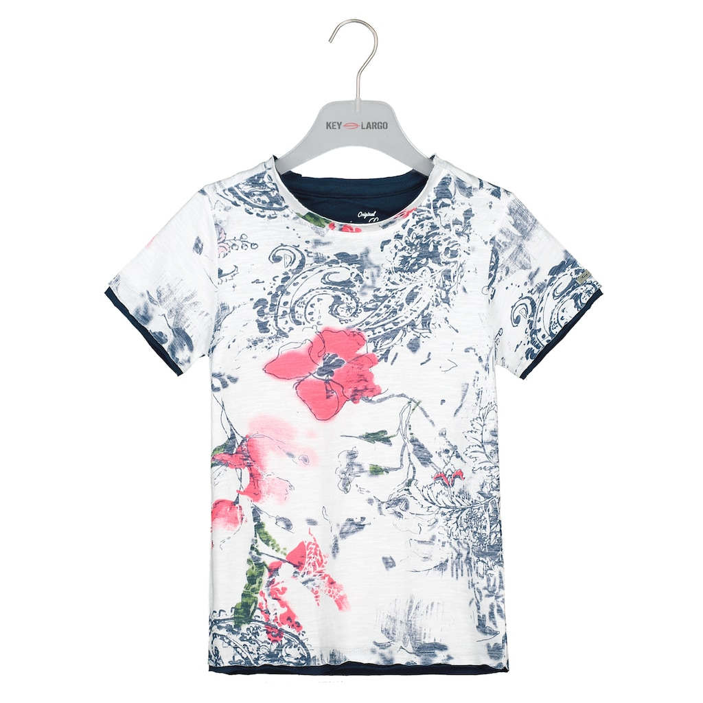 Key Largo T-Shirt, mit sommerlichem Print