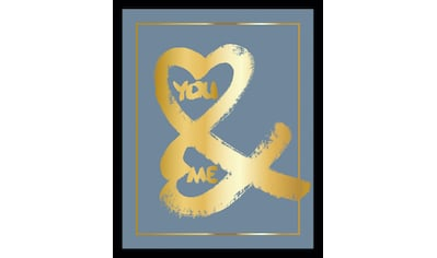 G&C Bild »YOU & ME II BLUE«, gerahmt kaufen