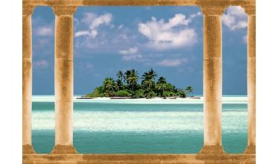 PAPERMOON Fototapete »Palmeninsel Malediven«, Vlies, in verschiedenen Größen kaufen