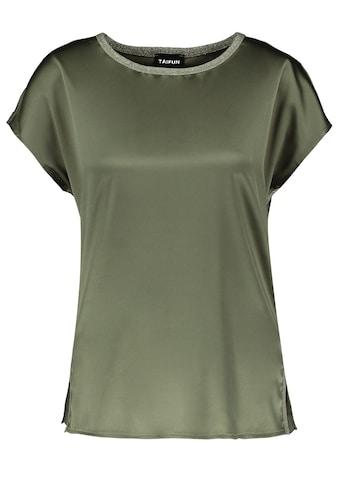Taifun Rundhalsshirt »Blusenshirt mit Material - Mix« kaufen