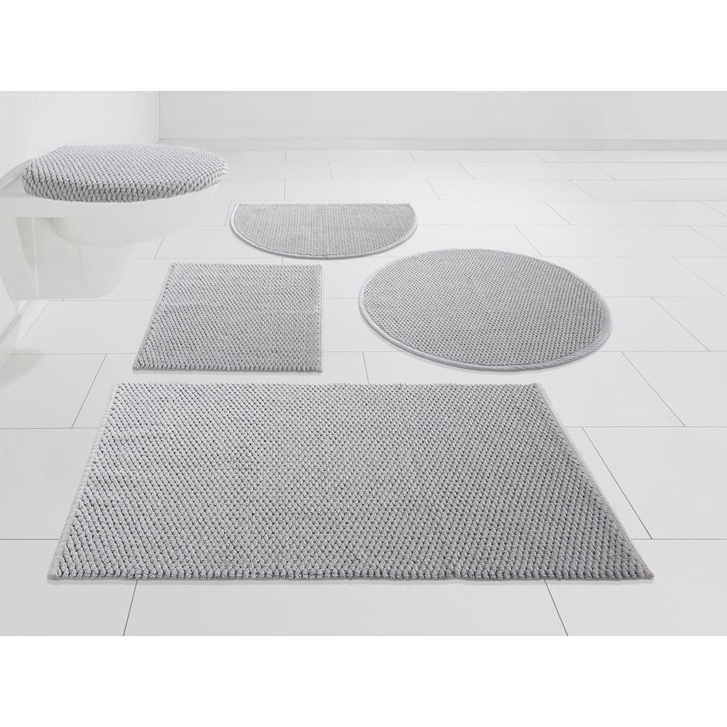 Home affaire Badematte »Dalia«, Höhe 4 mm, beidseitig nutzbar, Badgarnitur, 100% Baumwolle