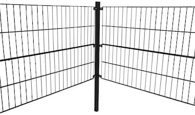 HOME DELUXE Doppelstabmattenzaun, 80 cm hoch, 10 Matten für 10 m Zaun, mit 6 Pfosten kaufen